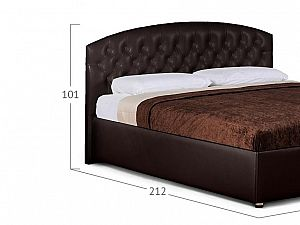 Кровать Moon Trade Пальмира Модель 380 Кофе с основанием