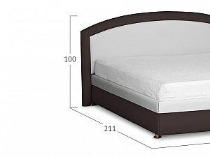 Кровать Moon Trade Мирабель Модель 379 Молоко+Кофе с основанием