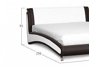 Кровать Moon Trade Помпиду Модель 394 Марципан+Пралине с основанием
