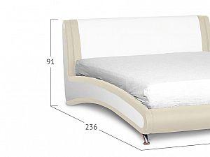 Кровать Moon Trade Помпиду Модель 394 Марципан+Суфле с основанием