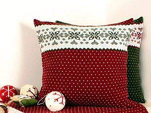 Плед Luxberry Norway, бордо/белый/зеленый