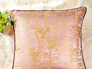 Декоративная подушка Asabella D6-2, золото на сиреневом