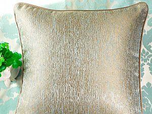 Декоративная подушка Asabella D8-1, оливково-голубая