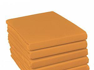 Простыня на резинке Fussenegger, арт. 2758, оранжевая
