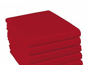 Простыня на резинке Fussenegger, арт. 2878, красная