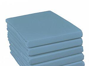 Простыня на резинке Fussenegger, арт. 3258, дымчато-голубая