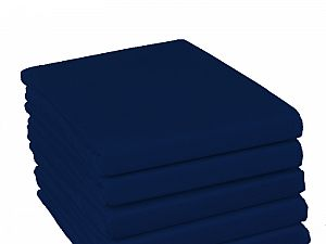 Простыня на резинке Fussenegger, арт. 4004, темно-синяя