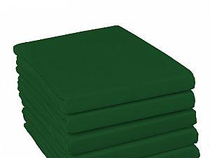Простыня на резинке Fussenegger, арт. 5350, темно-зеленая
