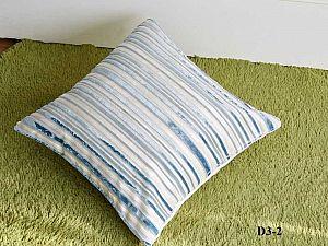 Декоративная наволочка Asabella D3-2, бело-голубая