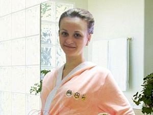 Халат Primavelle Smile с капюшоном, персиковый