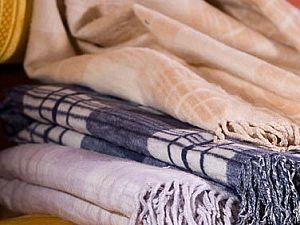 Шелковый плед Primavelle Silk с бахромой 130х190 см