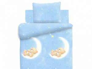 Постельное белье в детскую кроватку Лунный мишка Непоседа