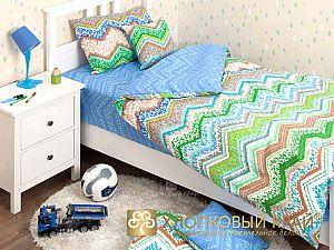 Постельное белье Хлопковый край Zigzag green