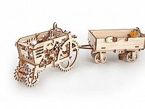 Конструктор 3D-Пазл Ugears Прицеп к трактору