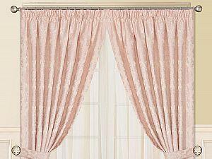 Шторы Sofi De Marko Эванжелина с подхватом 240х275 см, розовые