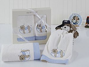 Комплект полотенец BOMBINO (голубой)