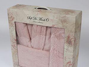 Халат Sofi De Marko Linda L-XL с полотенцем, розовый