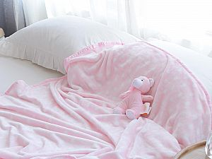 Плед Sofi De Marko Тедди с игрушкой, розовый