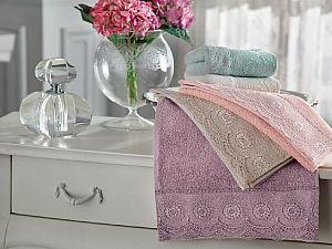 Набор из 3-х полотенец Tivolyo Butik, розовый