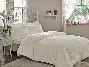 Жаккардовое постельное белье Tivolio Amelfi, кремовое