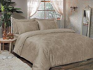 Жаккардовое постельное белье Tivolio Princess, бежевое