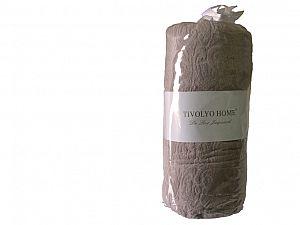 Простыня Tivolyo махровая на резинке 220х240 см, коричневая