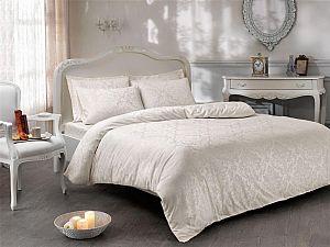 Жаккардовое постельное белье Tivolio Bambura, кремовое