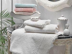 Набор из 3-х полотенец Tivolyo Alianz, розовый