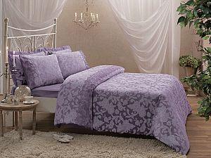 Жаккардовое постельное белье Tivolio Amelfi, лиловое