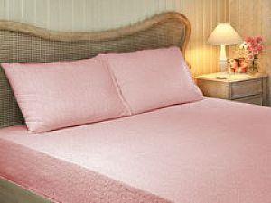 Простыня Tivolyo махровая на резинке 220х240 см, розовая