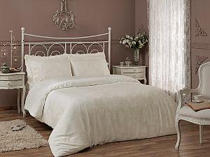 Жаккардовое постельное белье Tivolio Princess, кремовое