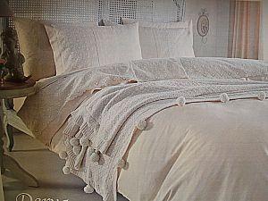 Постельное белье Gelin Home с пледом, Derya шампань