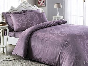 Жаккардовое постельное белье Tivolio Arredo, фиолетовое