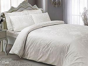 Жаккардовое постельное белье Tivolio Arredo, кремовое