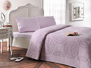 Комплект Tivolyo Alfredo с покрывалом, лиловый