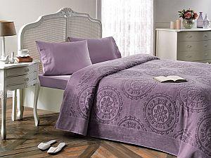 Комплект Tivolyo Alfredo с покрывалом, фиолетовый