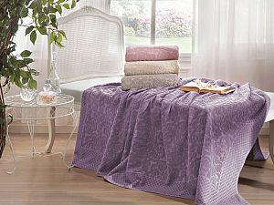 Махровое покрывало Tivolyo Elips, фиолетовое