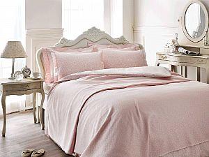 Комплект Tivolyo Punto с покрывалом, розовый