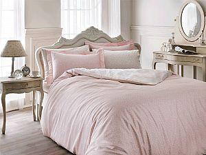 Постельное белье Tivolyo Delux Punto, розовый