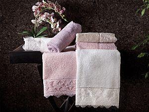 Набор из 2-х полотенец Tivolyo Minosa, фиолетовый