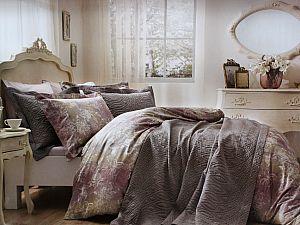 Жаккардовое постельное белье Tivolio Floral, лиловый