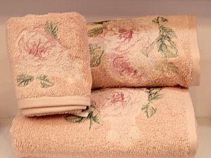 Набор из 3-х полотенец Tivolyo Rose Nakisli, розовый