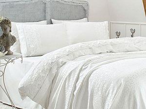 Постельное белье Gelin Home с покрывалом, Esma персиковый