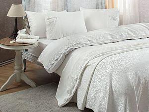 Постельное белье Gelin Home с покрывалом, Caroline кремовый