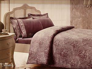 Жаккардовое постельное белье Tivolio Jakarli, лиловый