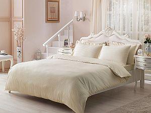 Жаккардовое постельное белье Tivolio Jaquard, коричневое