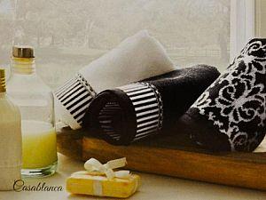 Набор из 2-х полотенец Tivolyo Casablanca Flower 2 чёрный