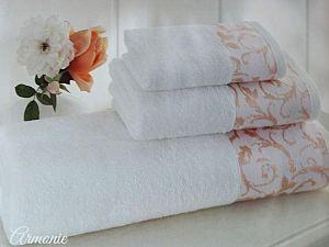 Набор из 3-х полотенец Tivolyo Armonie, персиковый