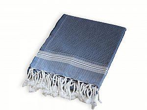 Полотенце Buldan Tuana 50х90 см, белое-синее