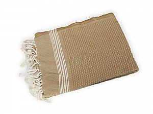 Полотенце Buldan Tuana 50х90 см, бежевое-белое